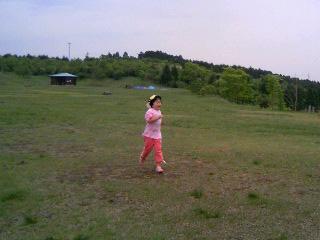 草原を走る。