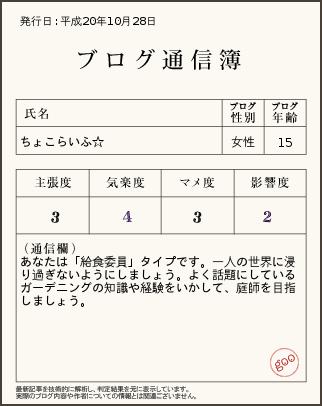 ブログ通信簿 vol.1