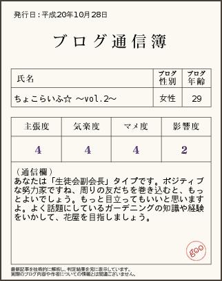 ブログ通信簿 vol.2
