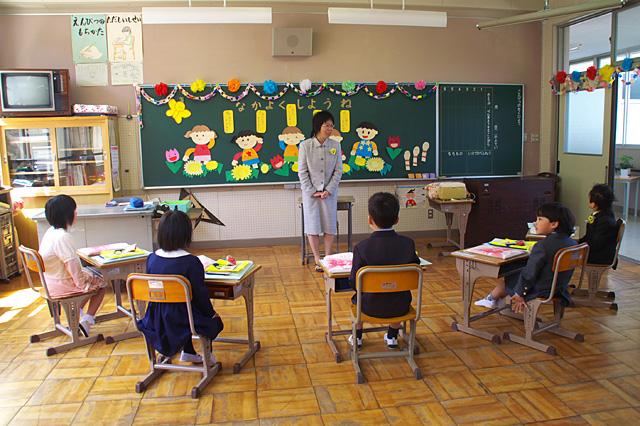 1年生の教室。