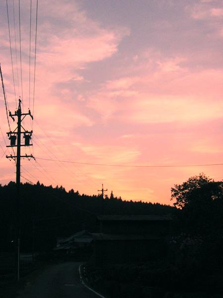 今日も夕焼け。