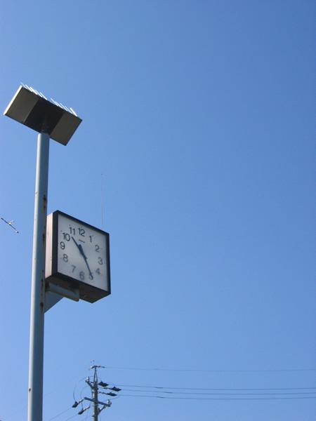 公園の時計。