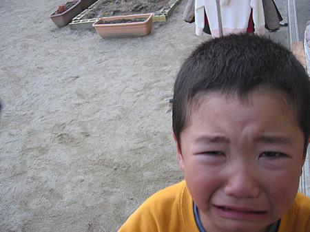 大泣きですがな。