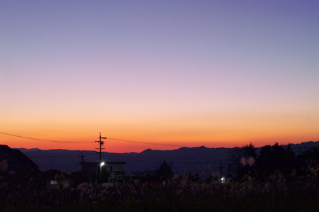 夕焼け空。