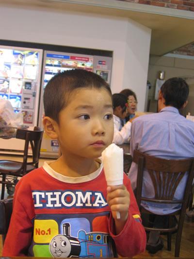 アイスおいしい。