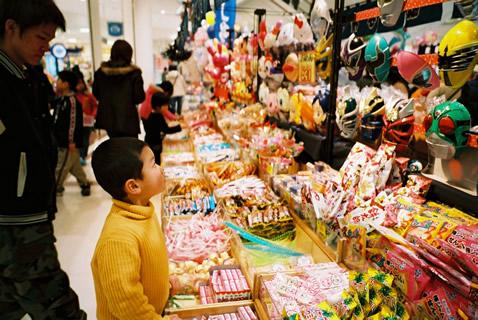駄菓子コーナー。