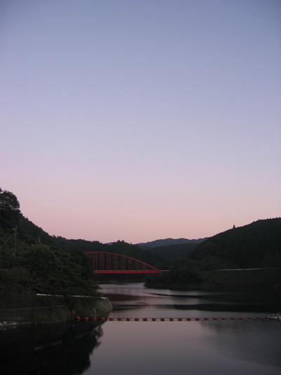 穏やかな夕焼け。