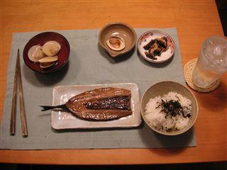 その日の夕飯