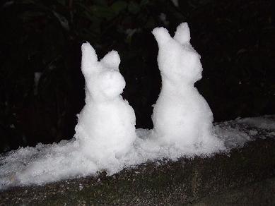 2/9ワンコ雪だるま