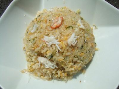 ズワイ蟹と青海苔の炒飯