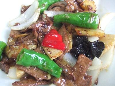 2009_0915豚レバーとじゃが芋の黒胡椒炒め