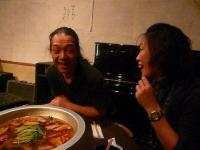 お疲れ様の まかない食を頂くvo北橋美輪子さんg村山義光氏