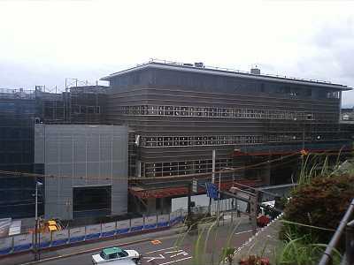 近江町市場再開発工事ビル