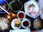 藤波定食(サザエご飯)
