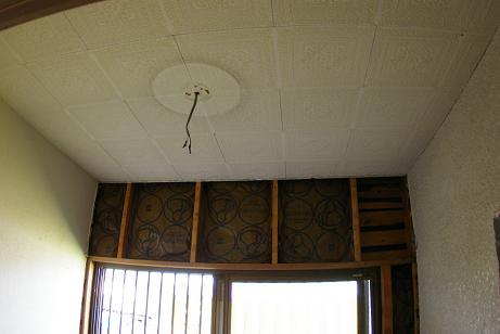 天井貼り前
