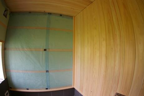 壁檜板貼り