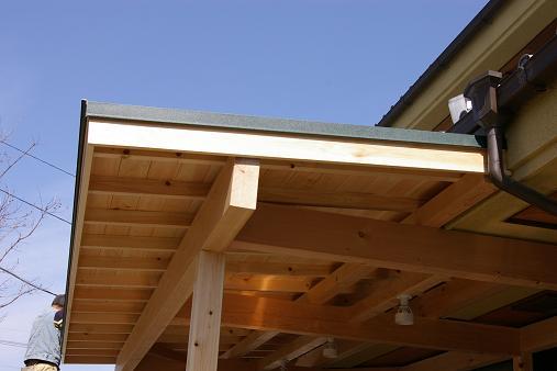 屋根工事終了後。