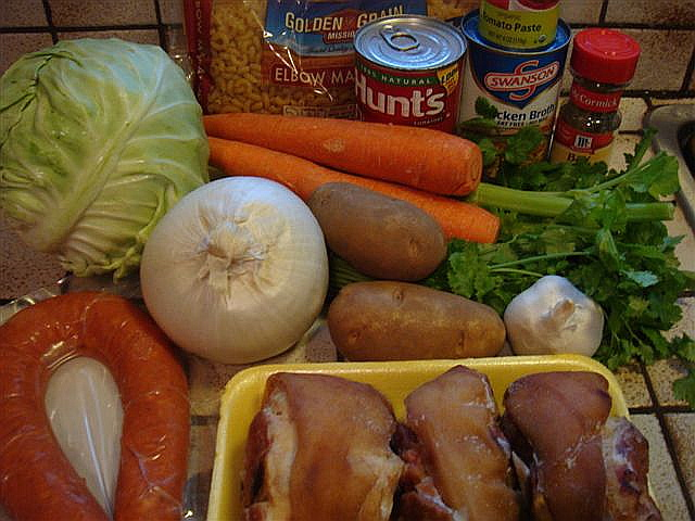 Ingredients for Portuguese Bean Soup