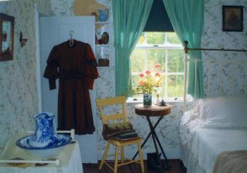赤毛のアンの家のモデルとされた作者ルーシー・M・モンゴメリーのいとこの家の中(プリンスエドワード島)