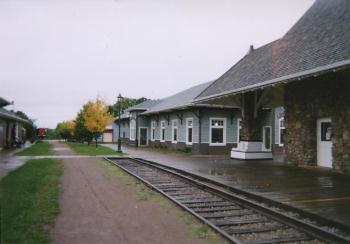 カナダのプリンスエドワード島にあるケンジントン駅(現在は廃線 撮影2005年10月)