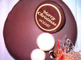 カフェ&ケーキ モーツァルト・クリスマスケーキ『ザッハトルテ』4号(生クリーム・ローソク5本付き)2,800円