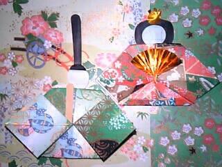 手作り ひな人形(友禅和紙折り紙使用)