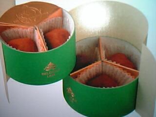 2007年、日本初上陸!『ピエール・ルドン』(ベルギー)の「トリュフ~ジョリクール~」(5粒入り 税込1,680円)のパッケージ