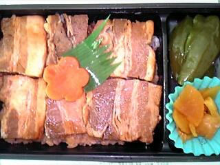 空弁  鹿児島空港発『かごしま黒豚 角煮弁当』1,000円(中身)