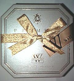ベルギー王室御用達『ヴィタメール WITTAMER』(ベルギー)の「プレミアム・トリュフ」(4個入(レミーマルタン2個・マッカラン2個)税込1,575円)のパッケージ