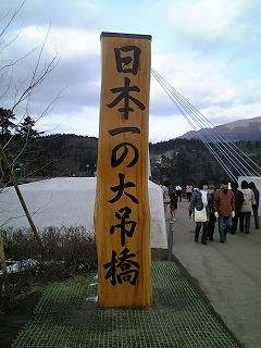 日本一の大吊橋らしい