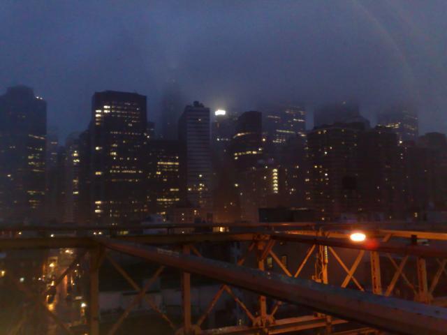 ブルックリン橋からのNY