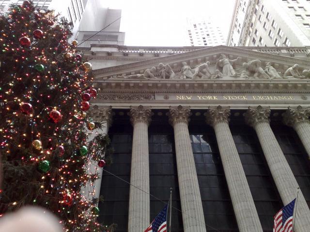 NY証券取引所のツリー