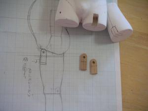 丸太 脚の図面2