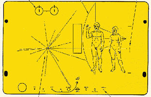 1972年の旅立ち_パイオニア10号の銘板