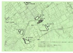 日本の政治の行方(駐車場地図)