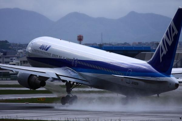 ANA B767-381 NH549@伊丹スカイパーク(by 40D with EF100-400)