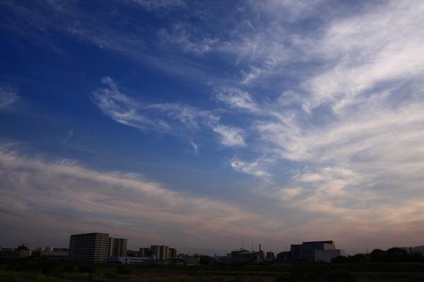 今日の夕空(伊丹市街地方面)@伊丹リサイクルセンター付近(by 40D with SIGMA18-50/2.8EX)