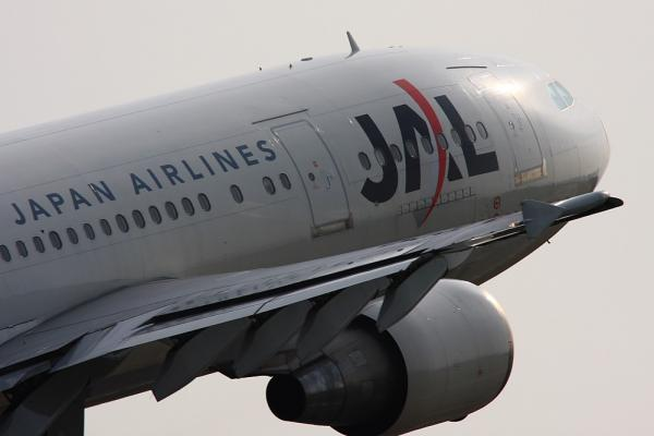 JAL A300-600R JAL1600@広島空港ターミナル対面ポイント(by 40D with SIGMA300/2.8EX+APO TC1.4x)