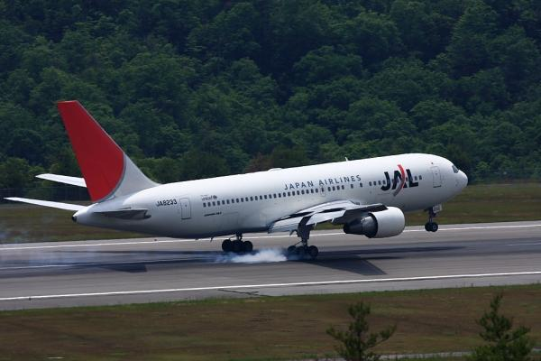 JAL B767-246 JAL1607@森林公園展望広場(by 40D with EF100-400/4.5-5.6L IS)