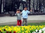 大通公園 花壇前2