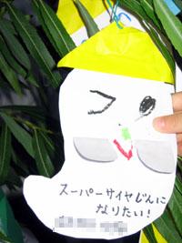 かーくん七夕短冊2007