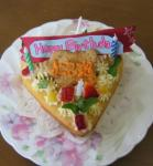 ケーキも ハート型なのよ !!