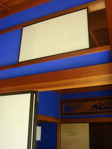 nehangunjo7422 縁側の群青壁