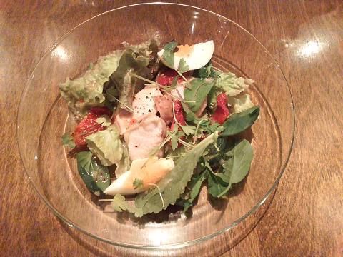 前菜サラダ(肉)