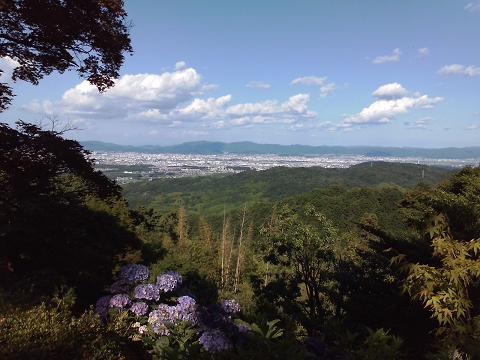 西山より京を一望