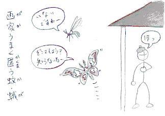 画家うまく匿う蚊・蛾