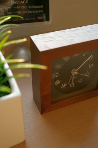 ホテルの時計