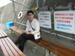 城ヶ崎遊覧船の待合席