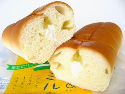 フジパン--季節のサンドロール パイン&ミルク(期間限定)。