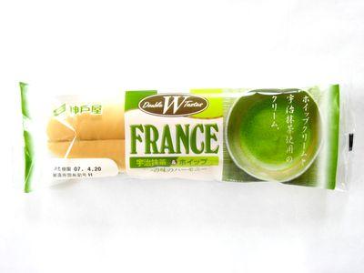 神戸屋--宇治抹茶&ホイップフランス。